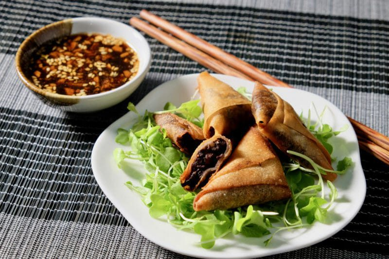 Black sausage and apple parcels. Ginger garlic dipping sauce. Appetiser Featured-More Favorites Inspired by the flavors of Asia Tapas