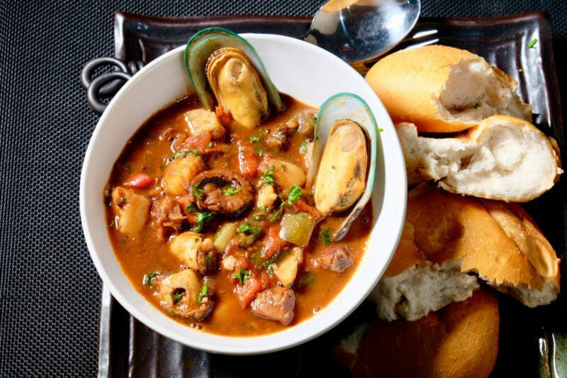 Tribute to Bourdain - Portuguese Seafood Stew Inspired by the flavors of the Mediterranean Lunch Seafood
